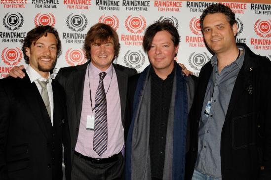 Kyle Schmid, Jack Bowyer, Rudolf Buitendach & Christian Piers Betley-Dark Hearts Premiere-London 29.09.12