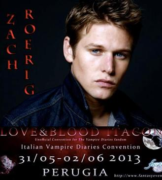 Zach Roerig-Love & Blood ItaCon 2013